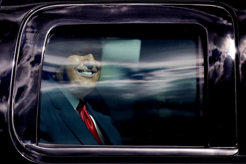Trump arriving in Florida on January 20