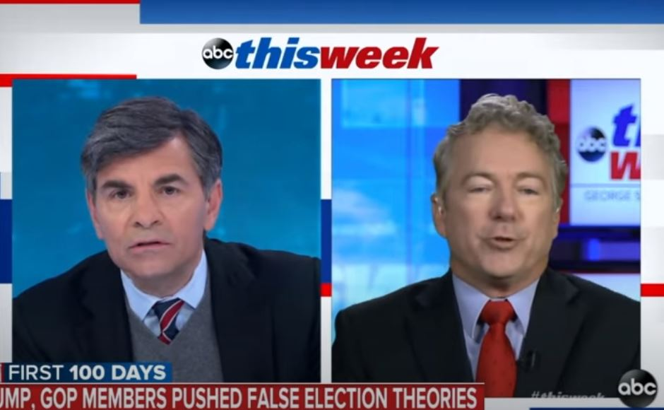 Rand Paul Refuses to Say Election Wasn't Stolen, Blames Media for Saying 'We're All Liars'
