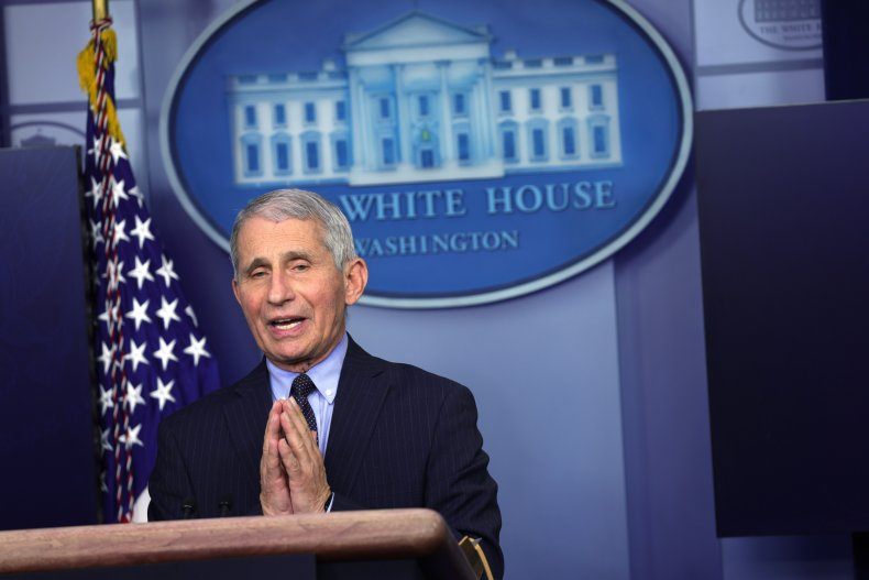 Anthony Fauci at COVID presser under Biden