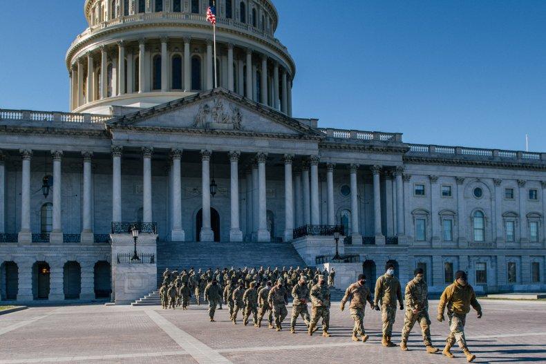 National Guard Troops at Washington Capitol Building