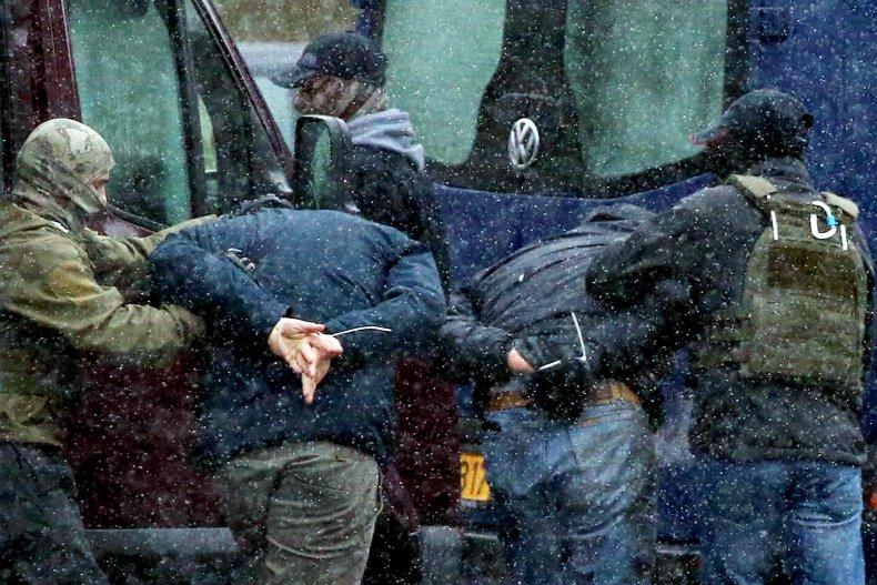 Belarus police arrest activists in Minsk, Belarus