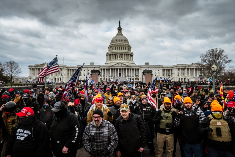Brian Gundersen capitol riots arrested jacket FBI