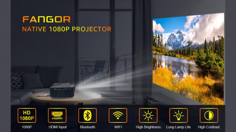 FANGOR 7500 Native 1080P WiFi Full HD