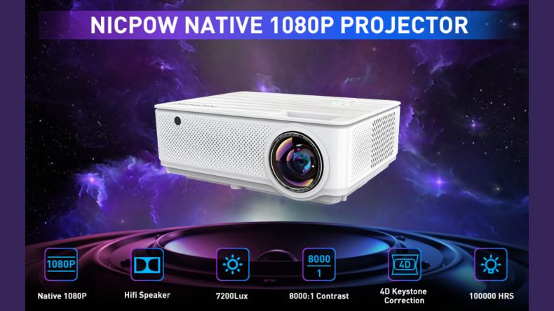 NICPOW Native 1080P 7200L Full HD Video