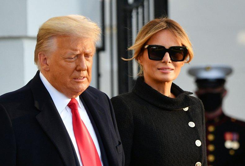 Former President Donald Trump and Melania Trump
