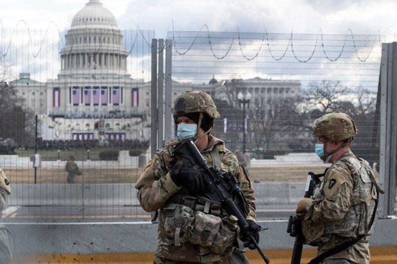 National Guard at Capitol Biden inauguration day