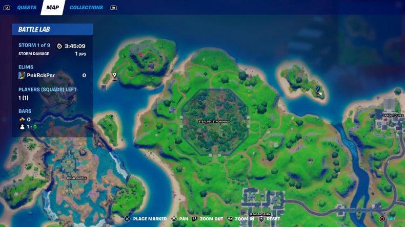 fortnite hidden bunker location 2 map