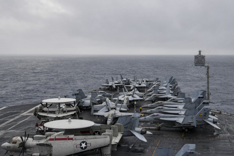 USS Theodore Roosevelt Enters South China Sea