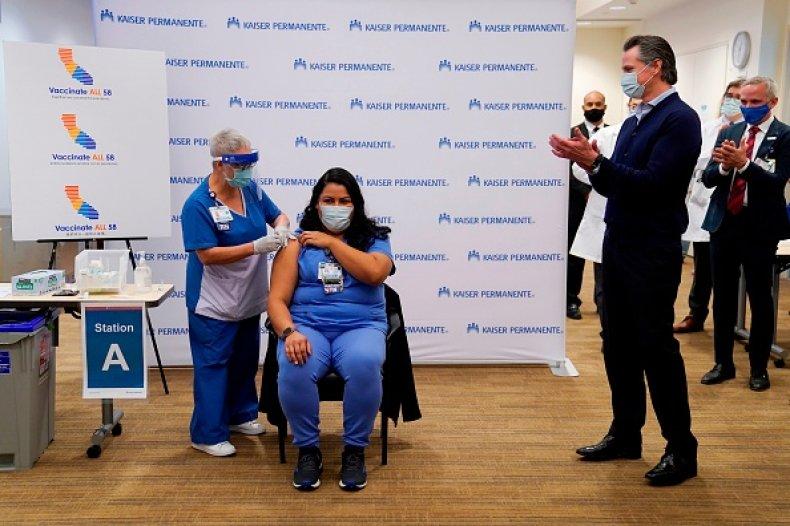 Newsom Frontline Worker Vaccine