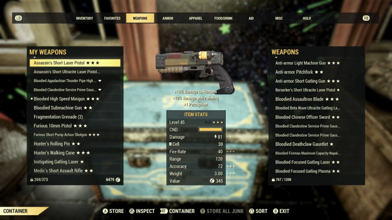 fallout 76 update 149 stash