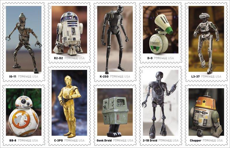 USPS Star Wars Stamps