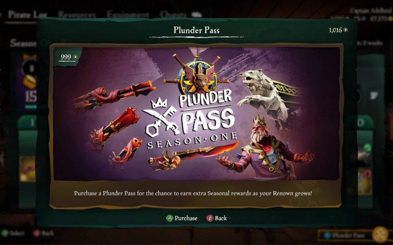 sea thieves season 1 update plunder pass