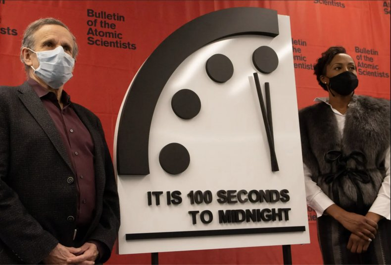 doomsday, clock, 100, seconds, 2021