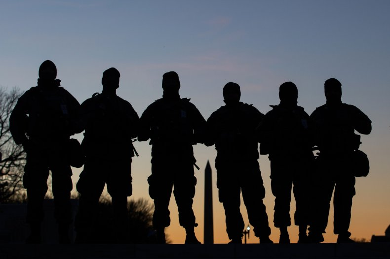 U.S. National Guard soldiers in DC