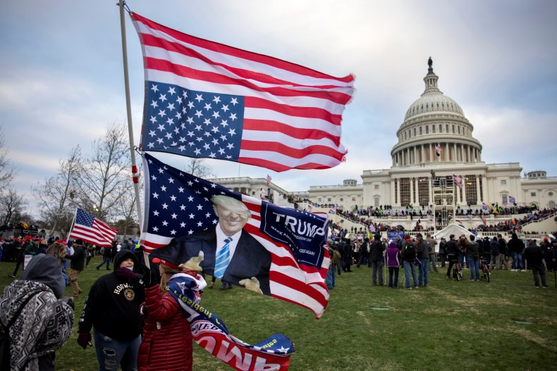 Trump supporters pictured before Capitol storming