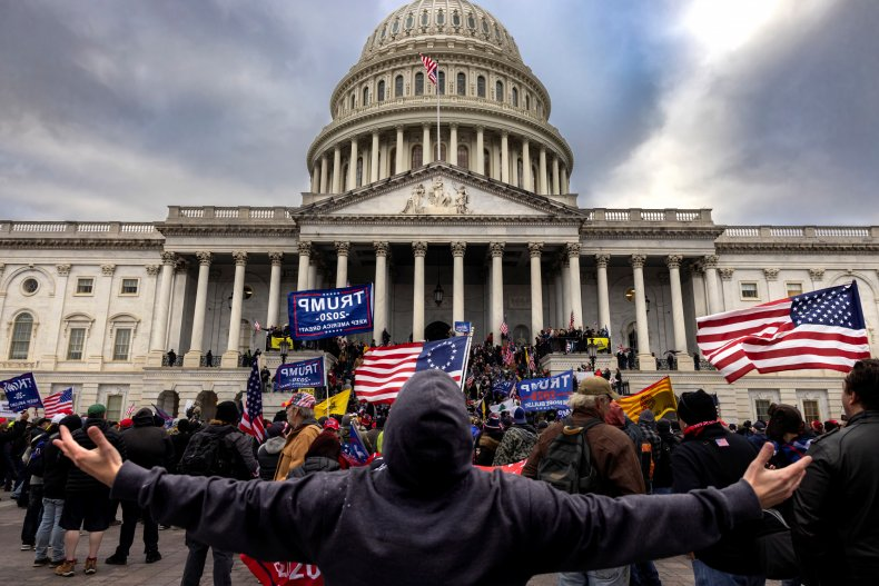 Pro-Trump Protesters Outside the Capitol
