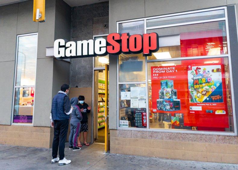 Customers at a Hollywood, California GameStop branch