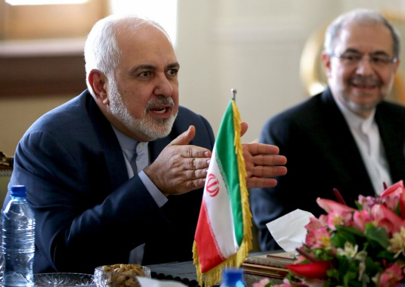 Javad Zarif pictured at Tehran meeting Iran