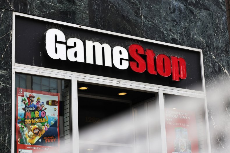 A GameStop sign in New York