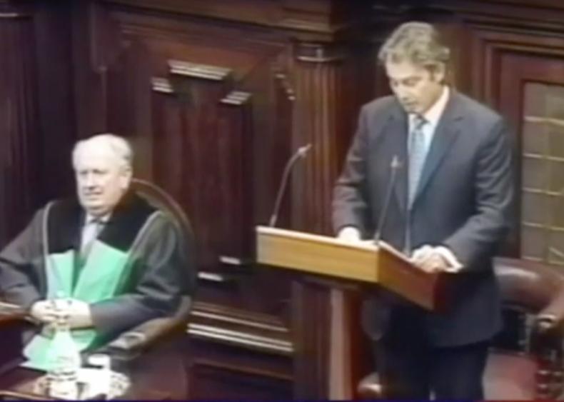 "#57. Tony Blair's ""Address to the Irish Parliament"""