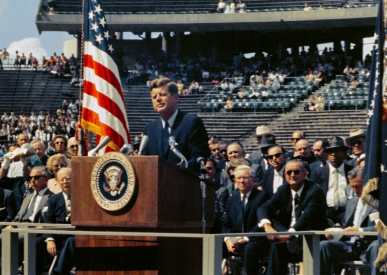 """#2. John F. Kennedy's """"We choose to go to the moon"""""""