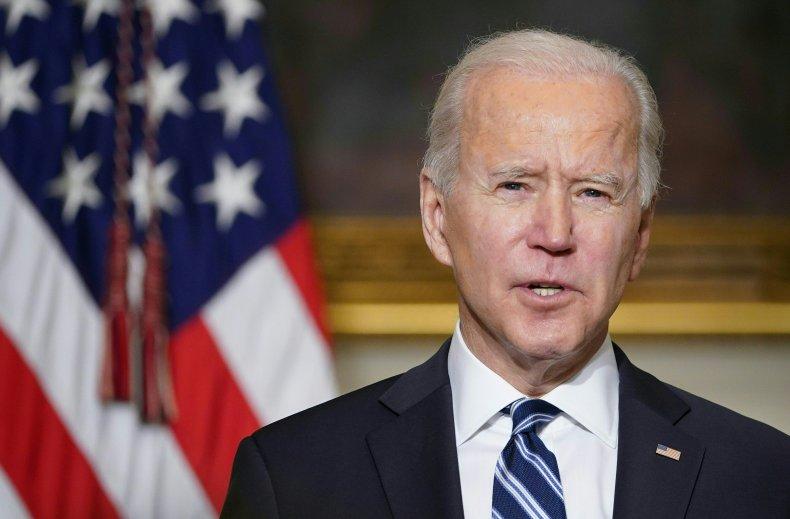 President Joe Biden speaking at the White