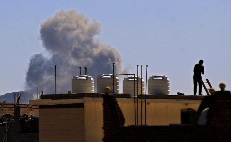 saudi, airstrike, sanaa, yemen