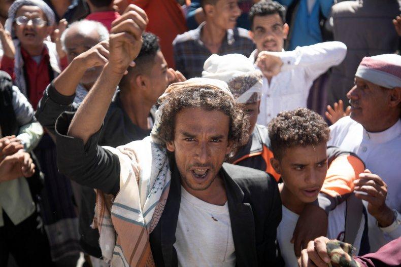 yemen, taez, ansar, allah, government, protest