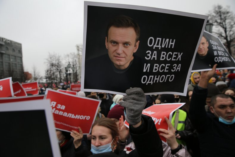 Alexei Navalny protest in Moscow