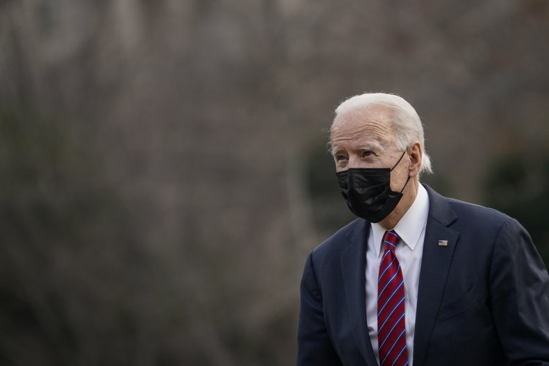 Joe Biden outside the White House