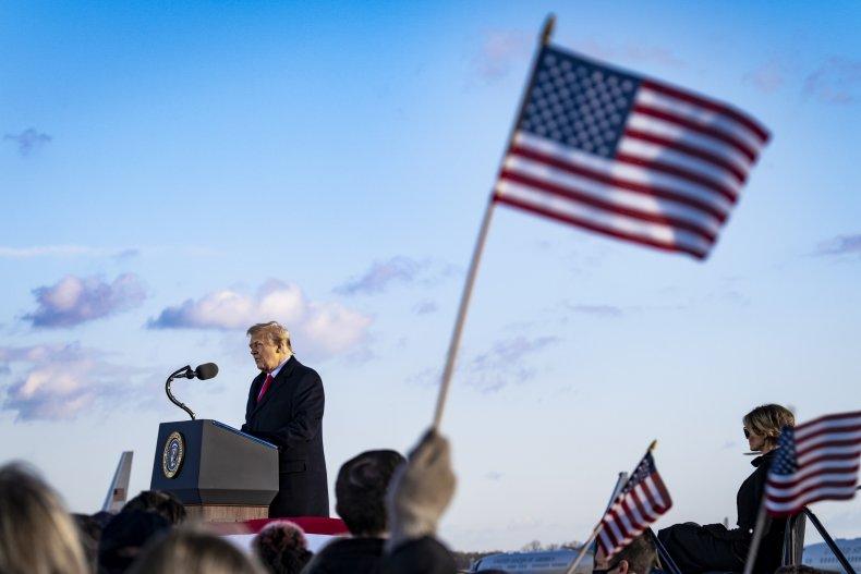 Trump and Melania on Biden's inauguration