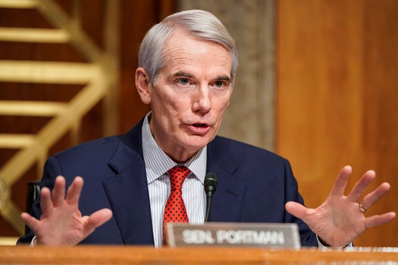 US-POLITICS-HEARING-SECURITY Senator Rob Portman (R-OH) questions Alejandro