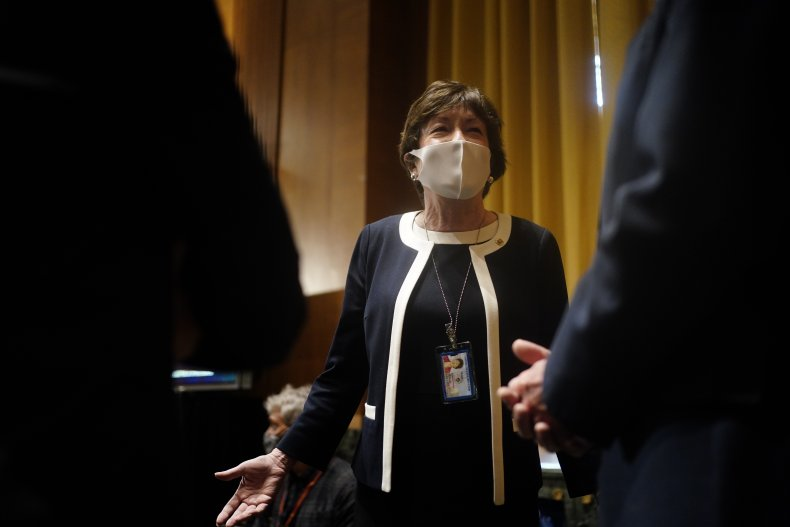 susan collins at confirmation hearing