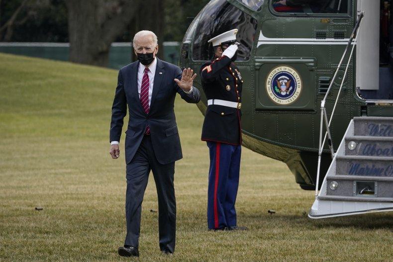 President Joe Biden Arrives at White House