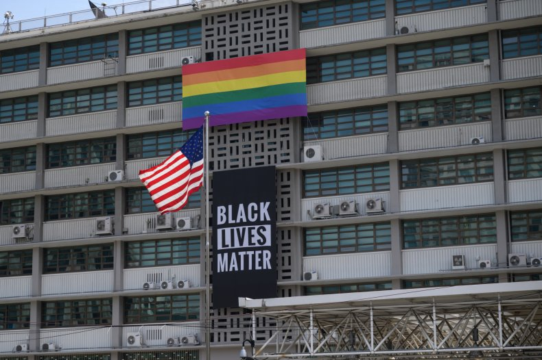 marjorie taylor green black lives matter flag