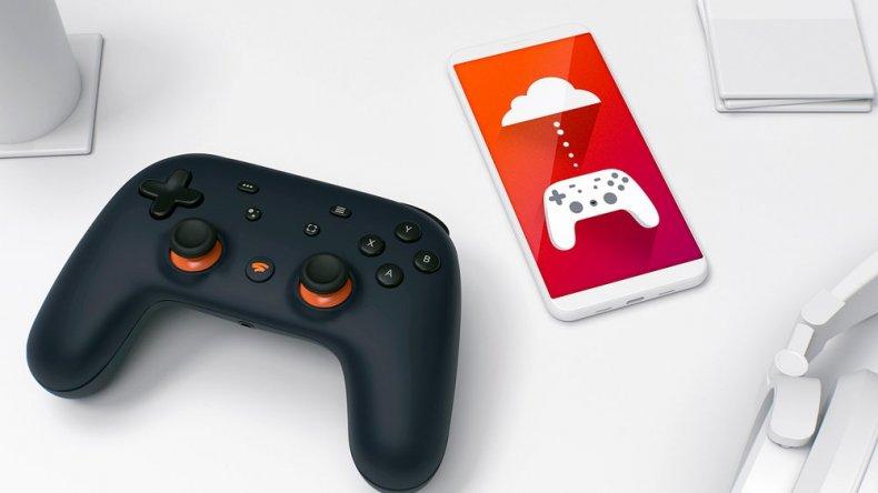 google stadia controller phone