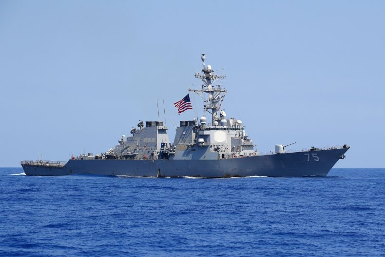 USS Donald Cook pictured in the Mediterranean