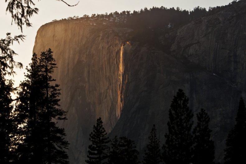 Firefall Horsetail Fall Yosemite Park 2013