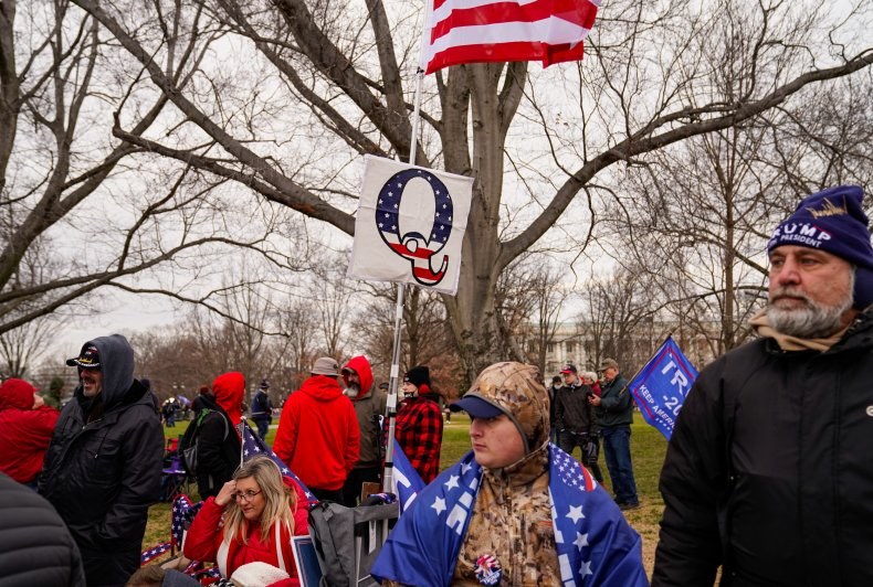 Supporters of QAnon at the U.S. Capitol