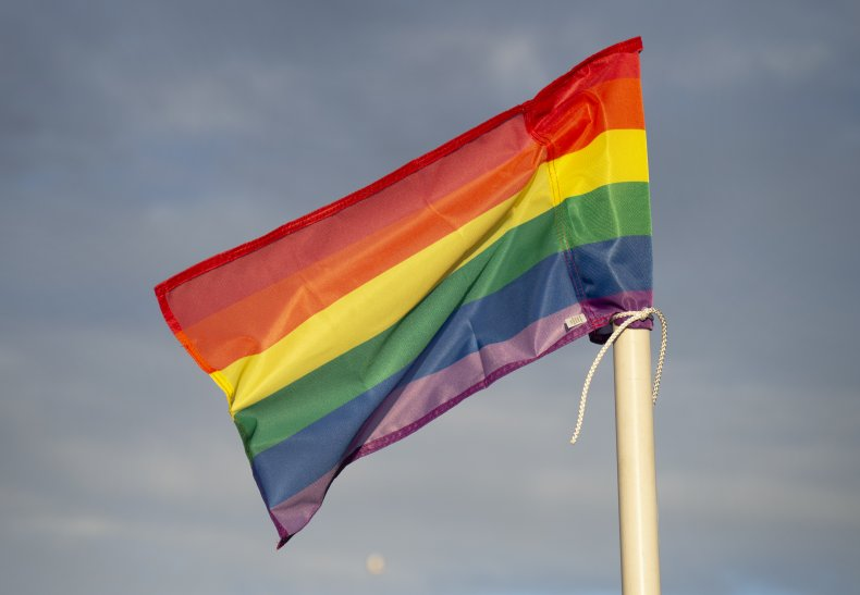 Flag supporting LGBT+ equality