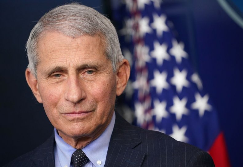 Dr Anthony Fauci at the White House
