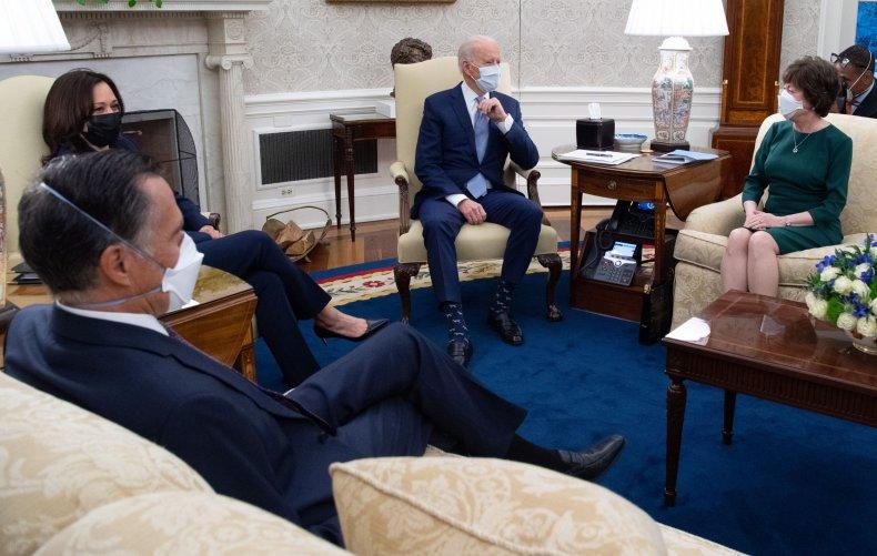 biden and harris meet with republican senators