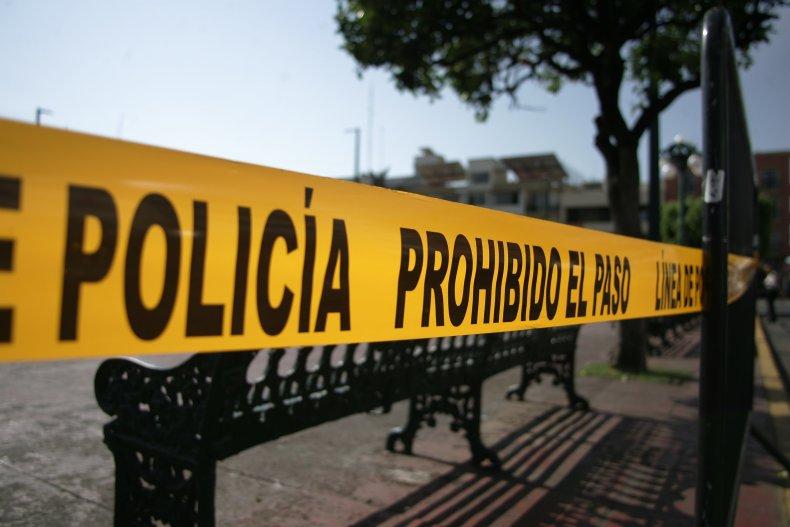 Police tape in Mexico
