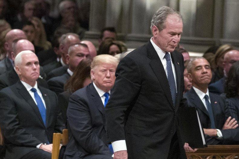 past presidents bush trump obama