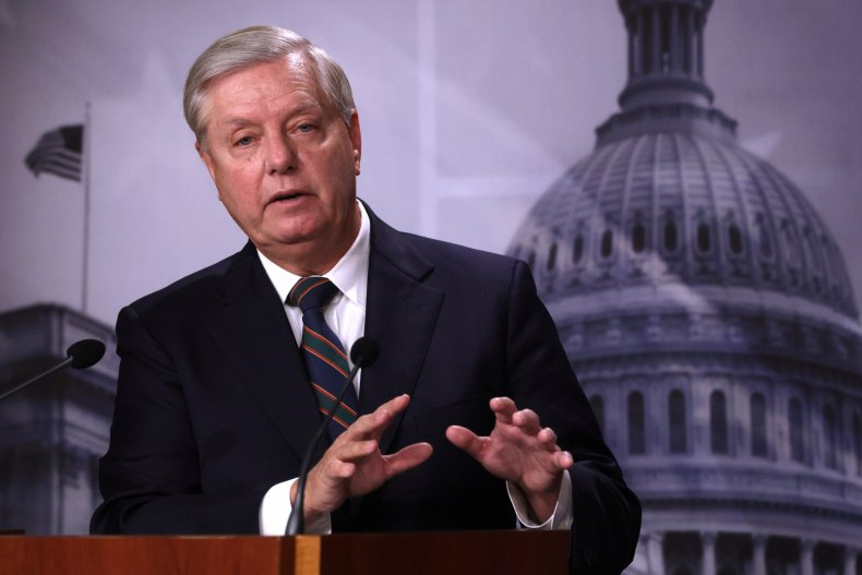 lindsey graham speaking at capitol press conference
