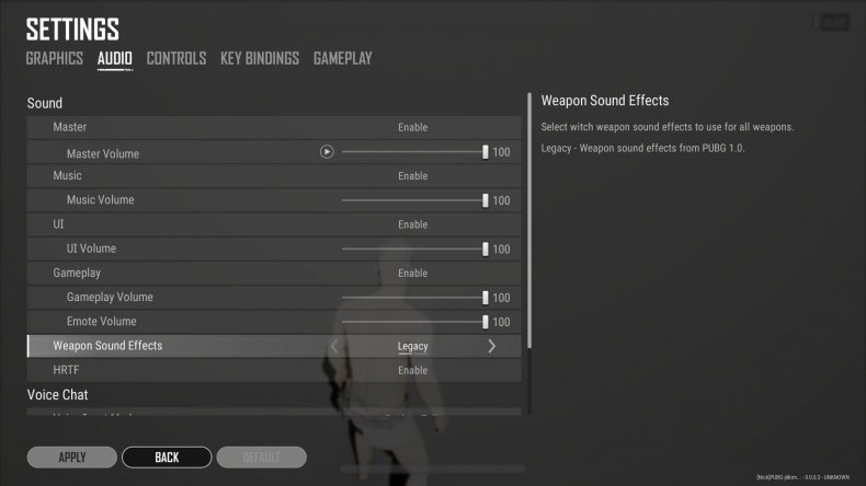 pubg update 10.3 patch notes audio settings