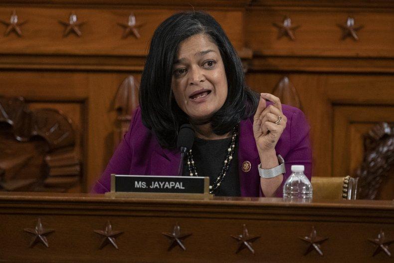 Rep. Pramila Jayapal speaks during a hearing