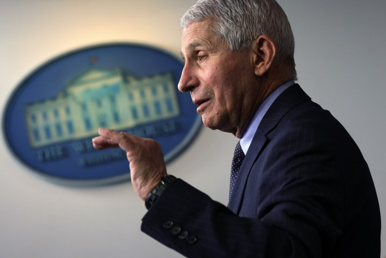 Anthony Fauci speaks at the White House