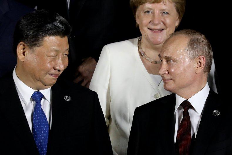 Angela Merkel, Vladimir Putin, Xi Jinping