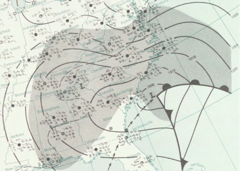 1964: New Year's Eve 1963 snowstorm